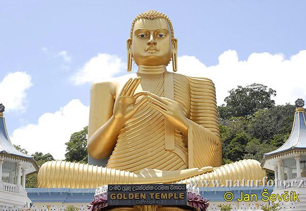 ダンブッラの黄金寺院 、写真