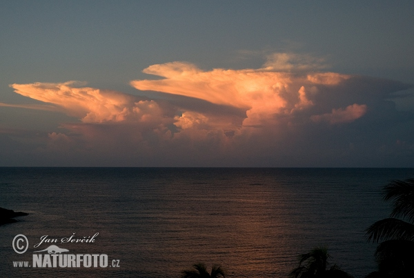 sunset over the Caribbean Sea (Sun 2)